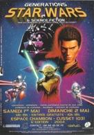 Flyer - Générations Star Wars & Science Fiction : Expositions, Animations... - Cusset (Allier) 1er & 2 Mai 2004 - Advertising