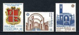 ANDORRE ESP 1987 N° 182/184 ** Neufs MNH Superbes C 2,50 € Co Princes Armoiries Europa Architecture Sanctuaire - Neufs