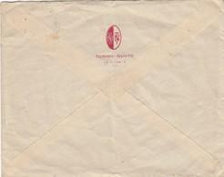 """9239-BUSTA INTESTATA E LETTERA DELL'ASSOCIAZIONE """"TORINO-NUOTO"""" - 1937 - Swimming"""