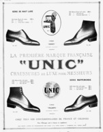 """PUB  CHAUSSURES """" UNIC """"  1923 ( 2 ) - Other"""