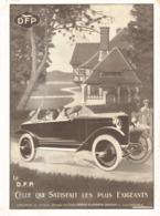 "PUB VEHICULES  "" DORIOT-FLANDRIN-PARANT  ""  1923 ( 1 ) - Transports"
