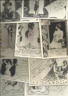 T.B. Lot De 40 Cpa Fantaisies ( Voir Scann) Toutes Même Thèmes, (tous Frais En +  4,00 Euros - Cartes Postales