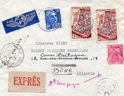 LETTRE - FRANCE Pour ALGERIE ( CONSTANTINE - BONE ) 1955 - France