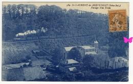 SAINT LAURENT DE BREVEDENT - Passage D'un Train - Sonstige Gemeinden