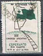 Sello Viñeta ESPERANTO, Rio Cuarto (argentina) 1965, Label, Cinderella º - Argentina