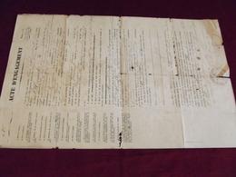 ACTE D'ENGAGEMENT 1876 .118° Régiment D'infanterie - Documentos Históricos