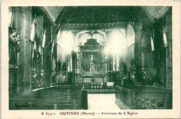 51 - OUTINES --  Intérieur De L'Eglise - France