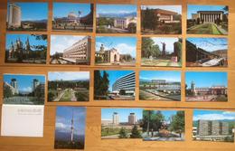 Sovjetunionen Kazakhstan 1987 18 Cards From Alma Ata, Buildings, Churches, Cars... - Kazakhstan