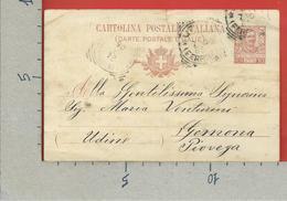 CARTOLINA POSTALE VG ITALIA - Tipo Floreale V. Emanuele III - GEMONA DEL FRIULI 1906 - S. CP30 MILL. 05 - Postwaardestukken