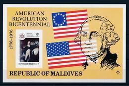 MALDIVES, 1976, US Independence S/s   MNH American Revolution Bicennial - Islas Malvinas