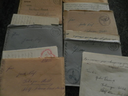 WW2- GUERRE 39-45- LOT DE 10 CORRESPONDANCES ALLEMANDES   GERMANY LETTRES + COURRIERS   VOIR LES 2 PHOTOS - Militaria