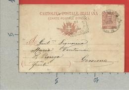 CARTOLINA POSTALE VG ITALIA - Tipo Floreale V. Emanuele III - GEMONA PIOVEGA  1905 - S. CP30 MILL. 04 - 1900-44 Victor Emmanuel III