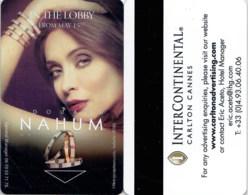 Intercontinental Carlton Cannes Nahum--Hotel Room Keycard, Room Keys, Hotelkarte, Clef De Hotel-- 2125 - Cartes D'hotel