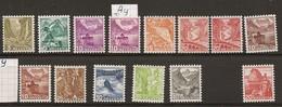 Schweiz, 1936, 201-209Y + 215,  242, 257, 14 Werte**, Kat. Fr. 400.00, Siehe Scan! - Unused Stamps