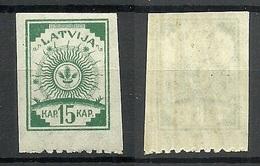 Lettland Latvia 1919 Michel 18 Y (senkrecht Geriffeltes/ribbed Paper) MNH - Lettland