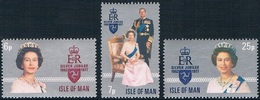 Ile De Man - 25e Anniversaire De L'accession Au Trône De Sa Majesté Elizabeth II (année 1976) 85/87 ** - Man (Ile De)