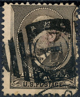 Stamp US #205 1882 5c Garfield Fancy Cancel USED Lot29 - Used Stamps