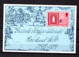 BRITISH  VIRGIN  ISLANDS   1979    Death  Centenary  Of  Sir  Rowland  Hill   Sheetlet       MNH - Iles Vièrges Britanniques