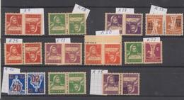 Schweiz, 1920, Kehrdruck ** 11 Werte, Kat. Fr. 137.00,  Siehe Scan! - Unused Stamps