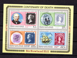 BAHAMAS   1979    Death  Centenary  Of  Sir  Rowland  Hill   Sheetlet       MNH - Bahamas (1973-...)