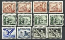 LETTLAND Latvia 1939 Lot Aus Michel 271 - 278 * - Lettonie