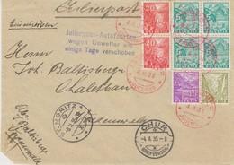 Schweiz, 1935, R-Brief, Julierpost, Chur, Vorderseite  Nach Vordemwald  ,  Siehe Scan! - Covers & Documents