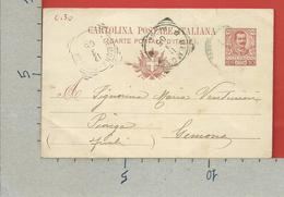 CARTOLINA POSTALE VG ITALIA - Tipo Floreale V. Emanuele III - GEMONA PIOVEGA  1905 - S. CP30 MILL. 04 - Postwaardestukken