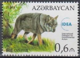 Azerbaijan 2014 (MNH) - Wolf (Canis Lupus) - Chiens
