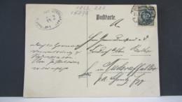 DR: Dienst-Karte Mit 1,25 Mk Aus Schwarzenberg Vom 31.3.22  Knr: B 31 - Briefe U. Dokumente