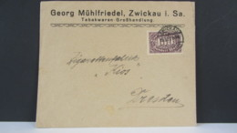 DR: Fern-Brief Mit 100 Mk Aus Zwickau Nach Dresden Vom 18.3.23, Portopriode 1.3.-30.6.23 Knr: 219 - Deutschland