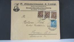 DR: DEUTSCHKATHARINENBERG-Brief Nach Dresden Mit Streifen 3 X 30 M In MiF Mit 10 M  Vom 21.4.23  Knr: 208(3) Ua. - Briefe U. Dokumente
