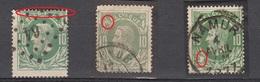 3 VARIETES SUR LE TIMBRES N° 30 DE BELGIQUE - 1869-1883 Léopold II