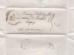 CHATEAU DE LESCHES PAR LAGNY 1842  MR DE LA CHAPELLE  VOIR SCANS - Old Paper