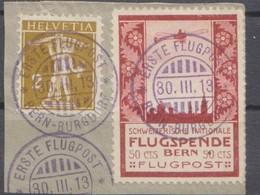 Schweiz, 1913, Flugpost Vorläufer Bern Auf Ausschnitt ,  Siehe Scan! - Covers & Documents