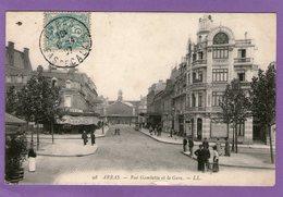 ARRAS - Rue Gambetta Et La Gare - 1907 - - Arras