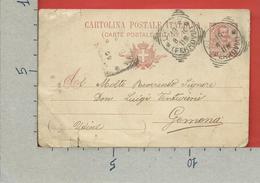 CARTOLINA POSTALE VG ITALIA - Tipo Floreale V. Emanuele III - GEMONA  1906 - S. CP30 MILL. 05 - Postwaardestukken