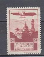 Schweiz, 1913, Flugpost Vorläufer Solothurn *, Ohne Gummi,  Siehe Scan! - Switzerland