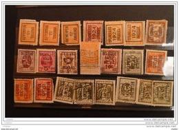 Belgique  Lot De 22 PO  1912,13,24, 29 35 Et 36 - Prematasellados