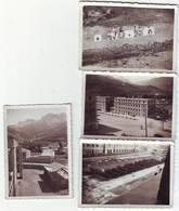 LOT DE 4 PHOTOS - Chasseurs Alpins (prise D Armes Dans La Cour Du Quartier, Champ De Tir, Prisons..) - Guerre, Militaire