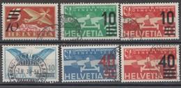 Schweiz, 1935, Flugpost 6 Überdruckwertel,  Siehe Scan! - Switzerland