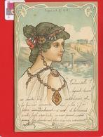 GRECE TURQUIE Smyrne Izmir Jolie Carte Femme Bijoux Art Nouveau 1901 Carte Collection Ed Storch Vienne La Drée Epinal - Grèce