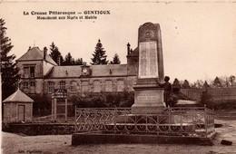 Gentioux 23 - Monument Aux Morts & Mairie - édit Pigeroulet - France