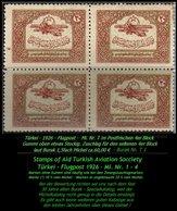 Luftfahrt - Mi. Nr. 1 Im Postfrischen 4er Block - 1921-... République