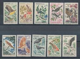 Monaco N°581 à 590** Oiseaux - Monaco