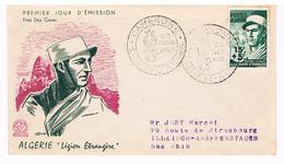 Enveloppe 1er Jour D'émission First Day Cover  Légion étrangère , Camerone Sidi-Bel-Abbès , Algérie 30/04/1954 - Militaria