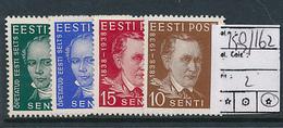 ESTONIA ESTONIE YVERT 159/162 CHARNIERE LH - Estonie