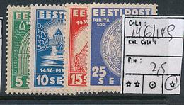 ESTONIA ESTONIE YVERT 146/149 CHARNIERE LH - Estonie