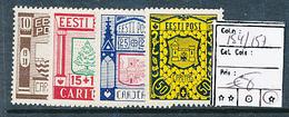 ESTONIA ESTONIE YVERT 154/157 CHARNIERE LH - Estonie