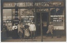 93 - AUBERVILLIERS - CARTE PHOTO - COMMERCE PRIMISTERE PARISIEN Avec Animation - Bon état - - Aubervilliers