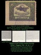 Luftfahrt - (Mi. Nr. 3) - Burak T. 3 C KU - Teilgezähnt -RR- STEMPEL !!! - 1921-... République